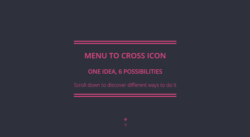 Menu to cross icon With JQuery and CSS3