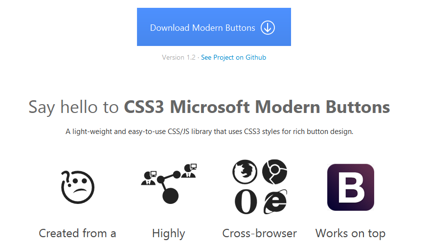 CSS3 library for making Microsoft-metro themed buttons