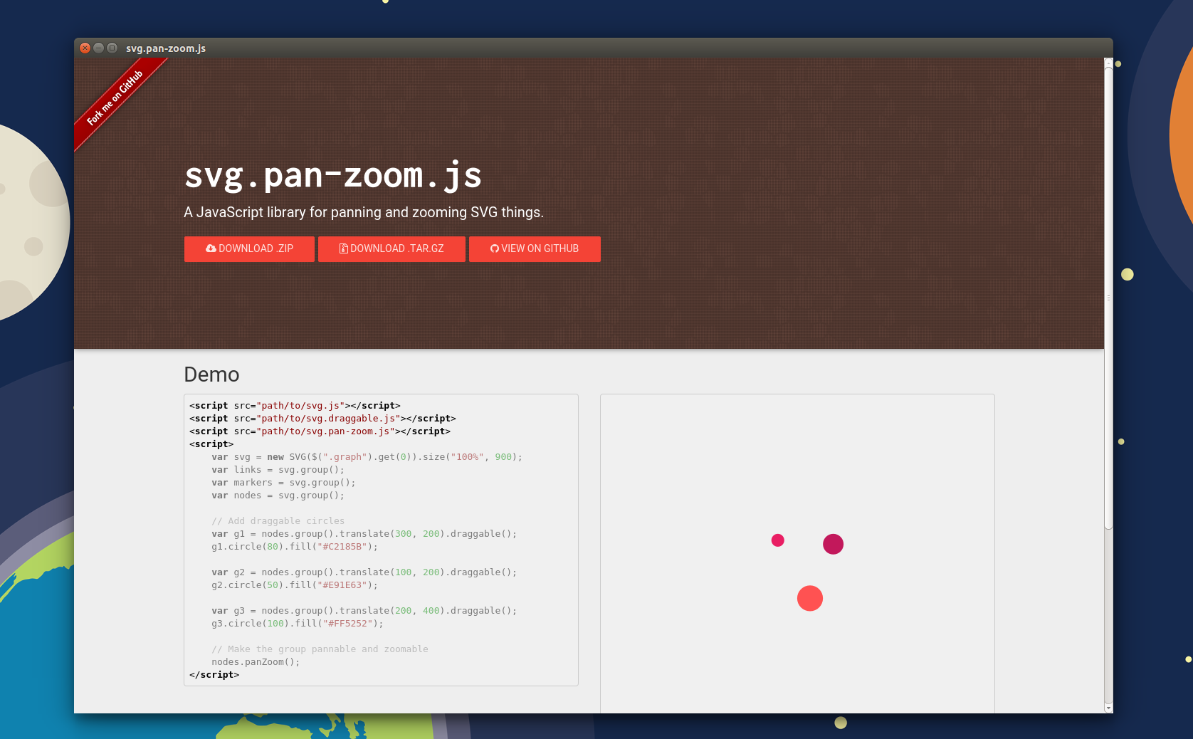 JavaScript Panning & Zooming SVG Things : svg.pan-zoom.js