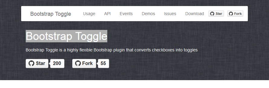 Bootstrap toggle