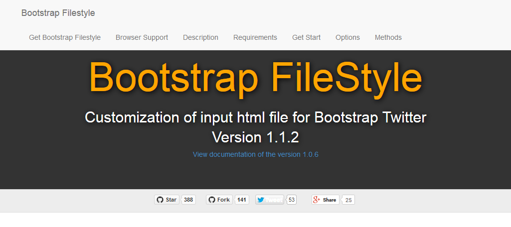Bootstrap styled file upload button