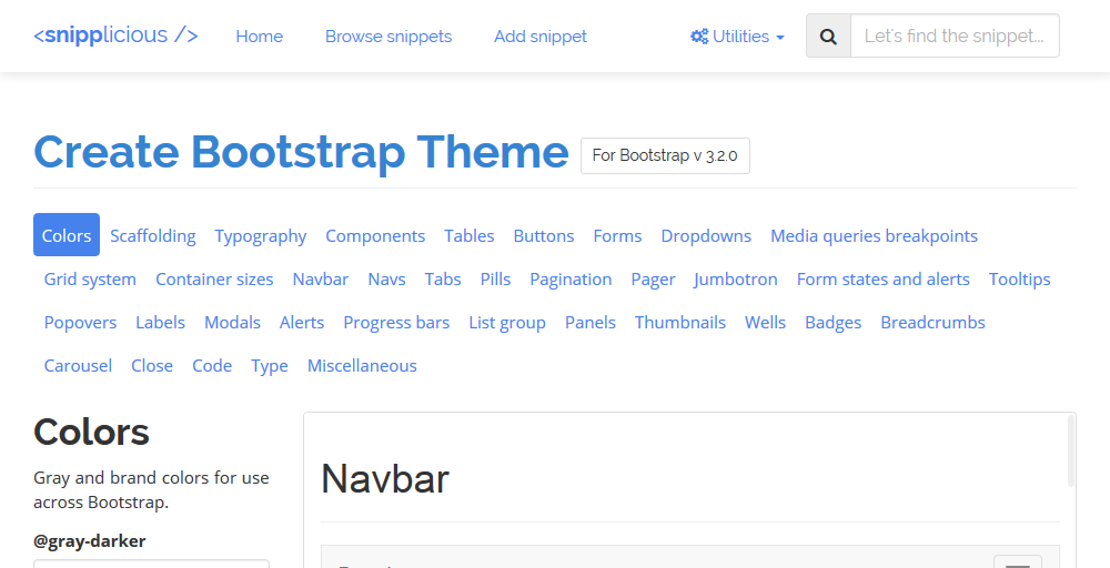 Customize Bootstrap Theme