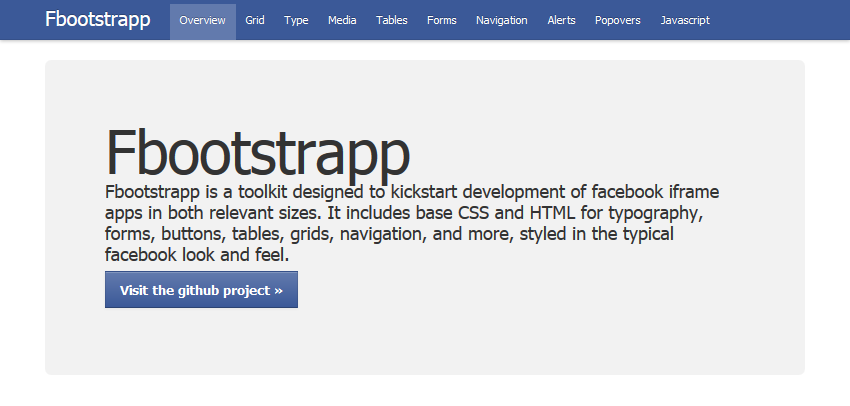 Facebook page Bootstrap style