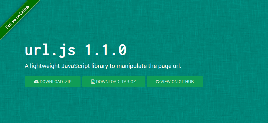 JavaScript library to manipulate the page url : URL.js