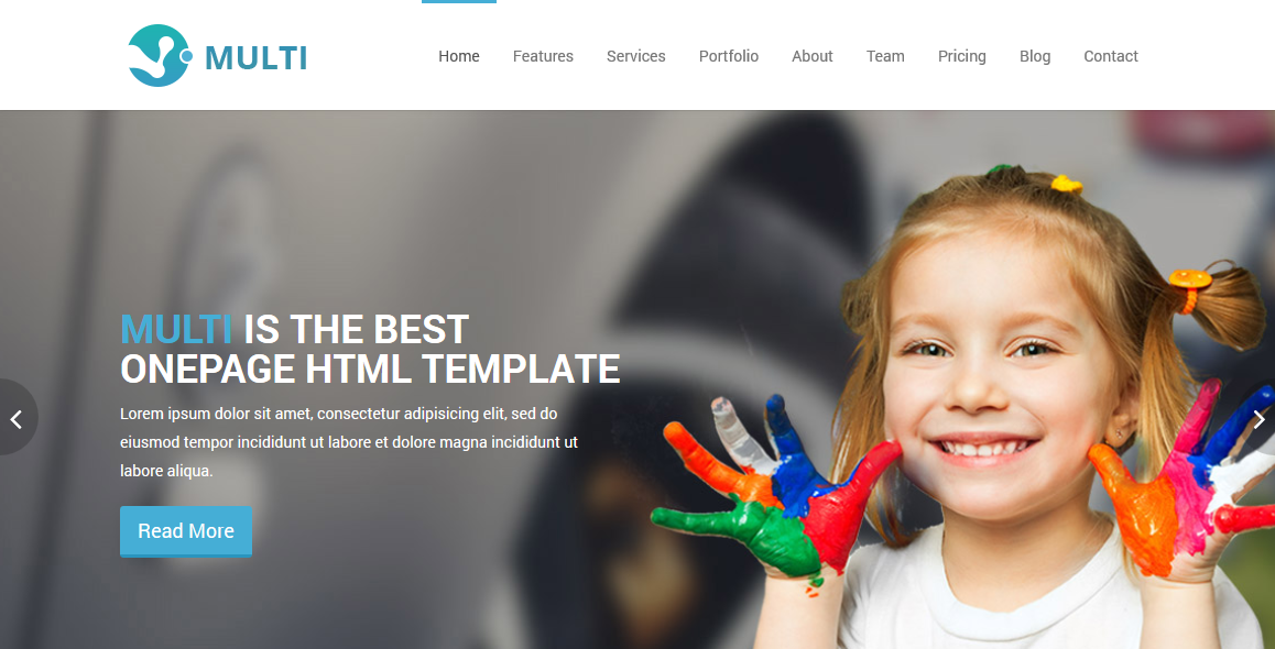 Multi � Free Responsive OnePage HTML Template