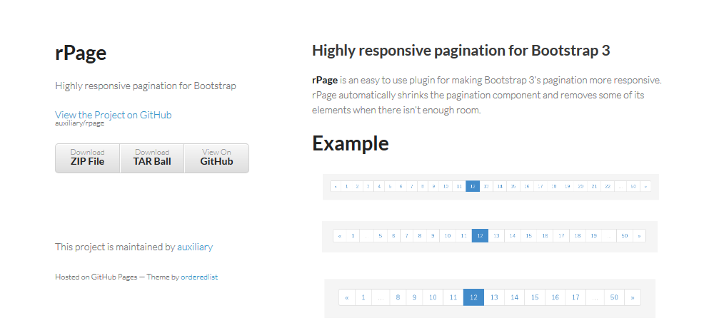 Responsive Pagination for Bootstrap 3