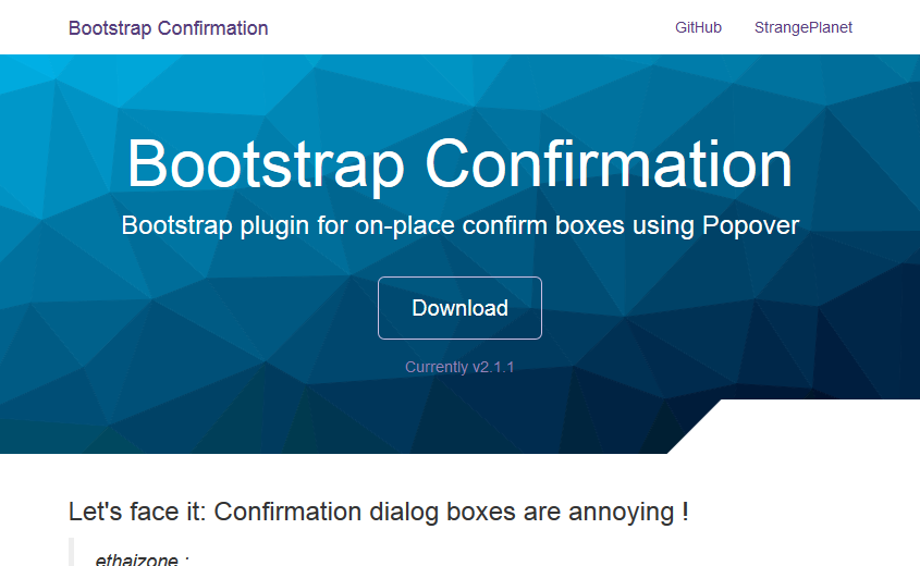 bootstrap-confirmation