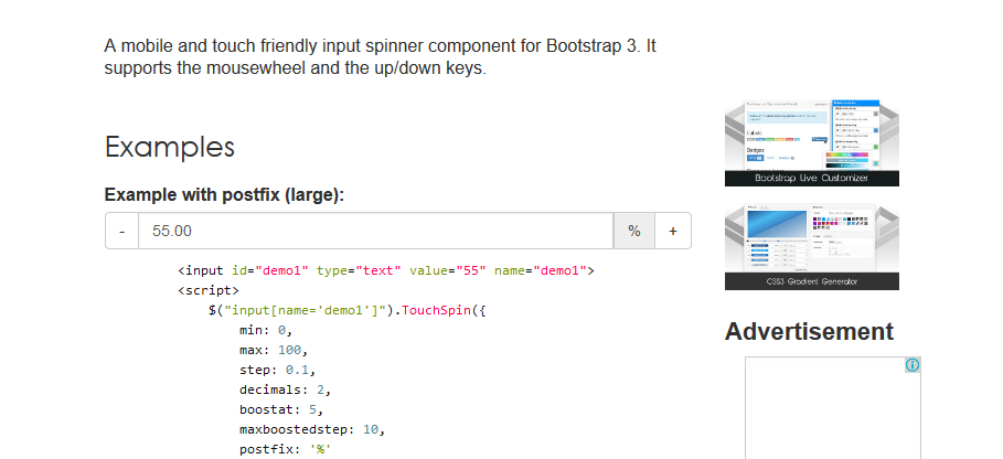bootstrap-touchspin