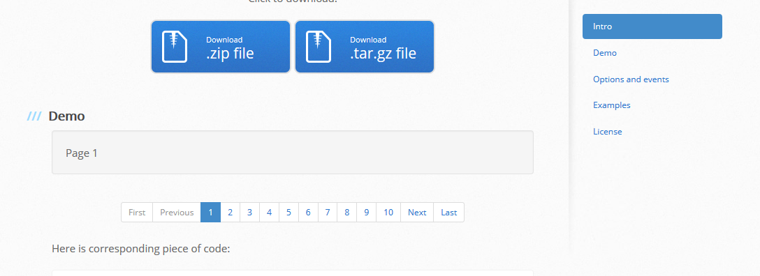 jquery-pagination