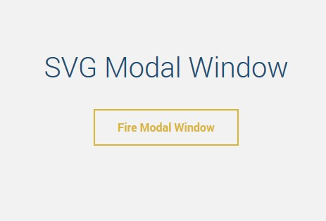 Simple modal window with an animated SVG background