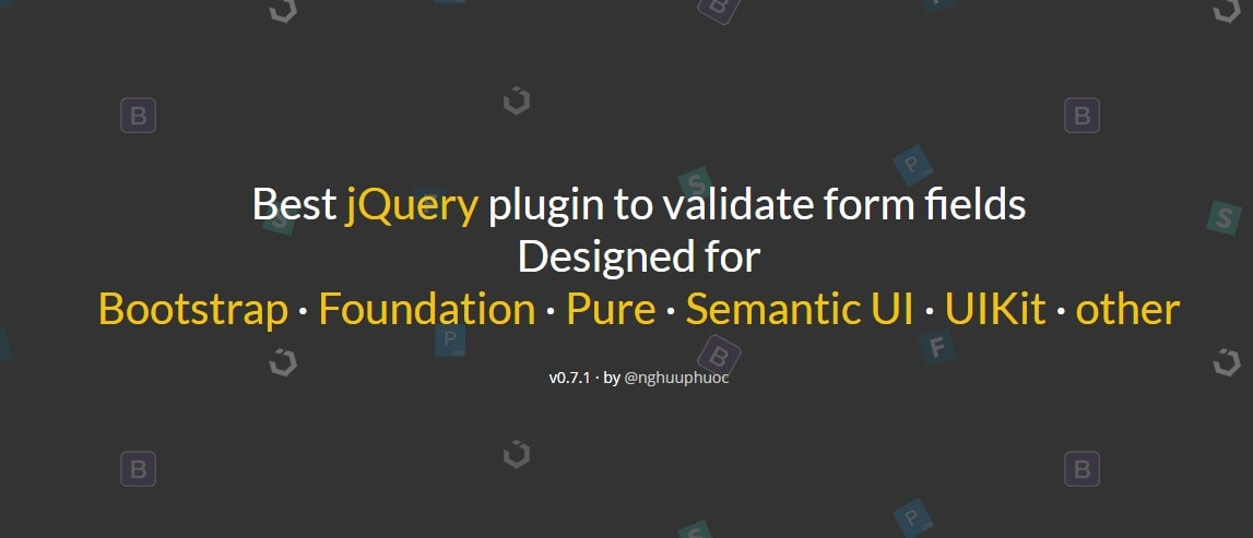Best jquery plugin to validate form fields