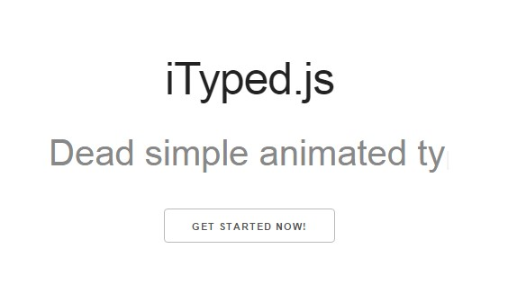 Simple Javascript animated typing