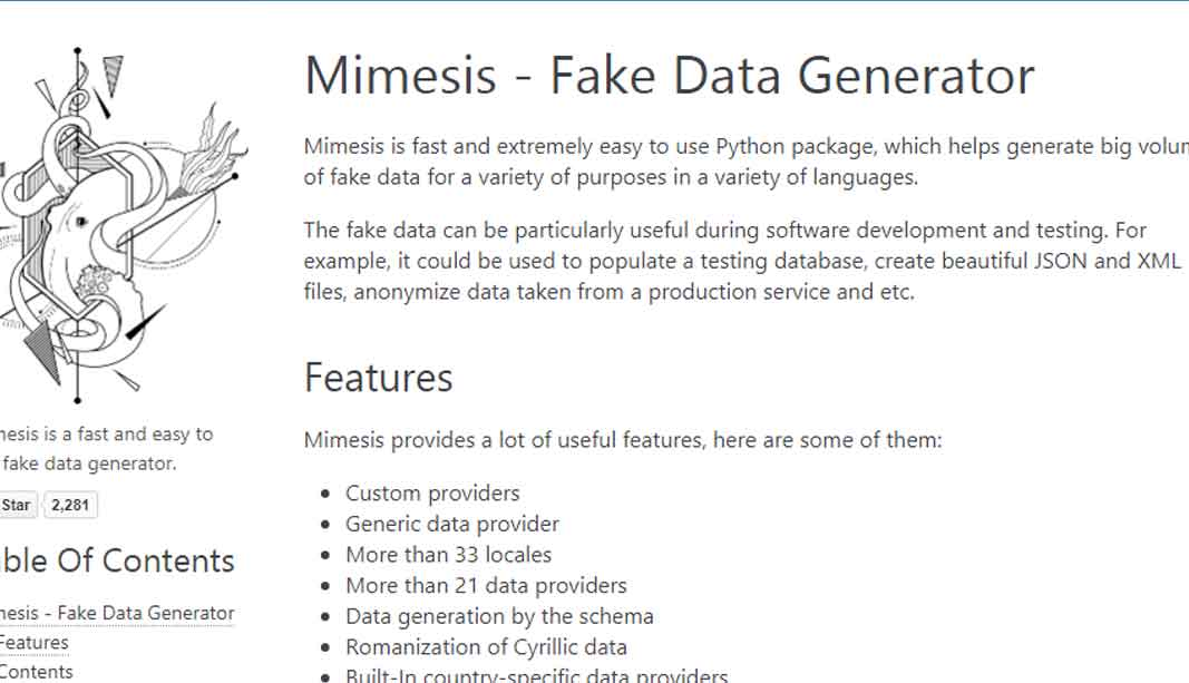 Fake Data Generator – Mimesis