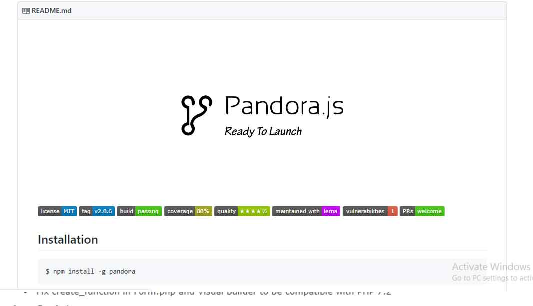 Pandora –  Node.js Application Manager