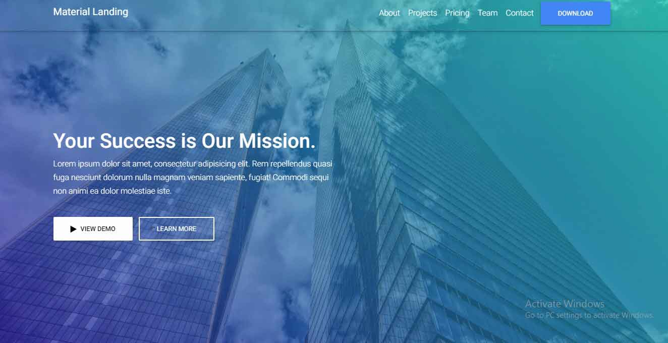 bootstrap 4 template free