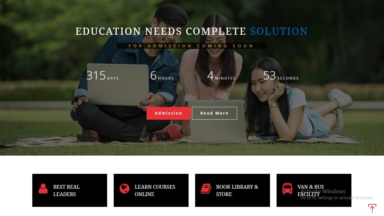 bootstrap education template