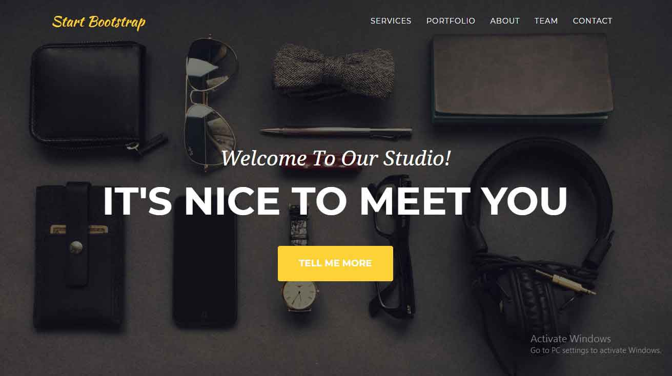free bootstrap 4 website theme