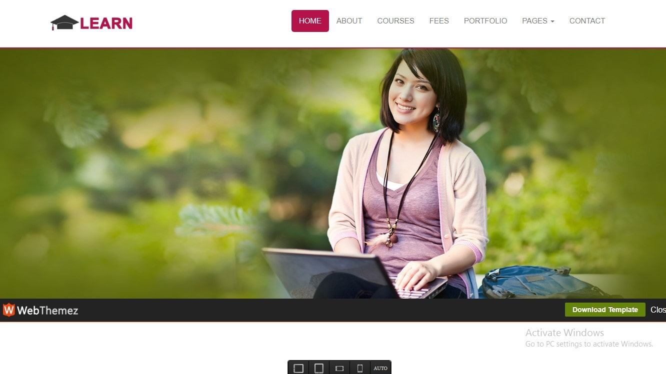 Best Free Educational Bootstrap Website Temlates