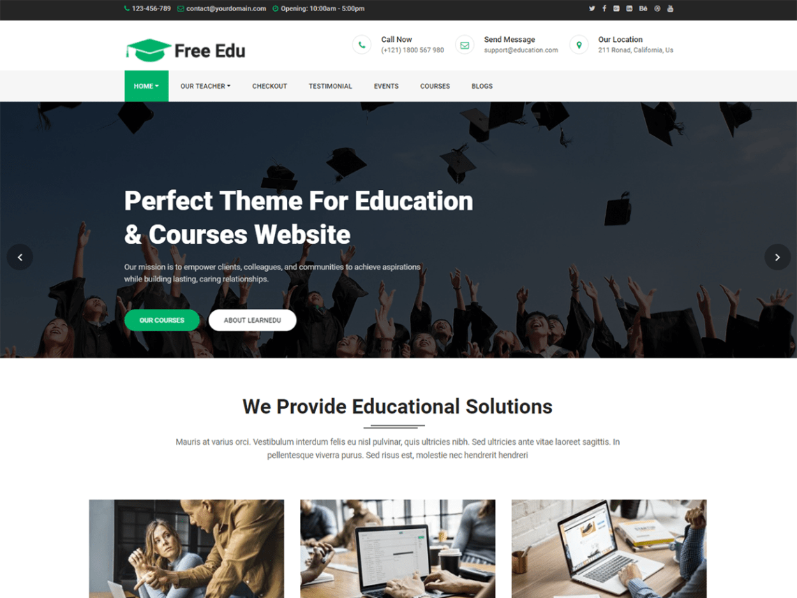 academy free wordpress responsive theme