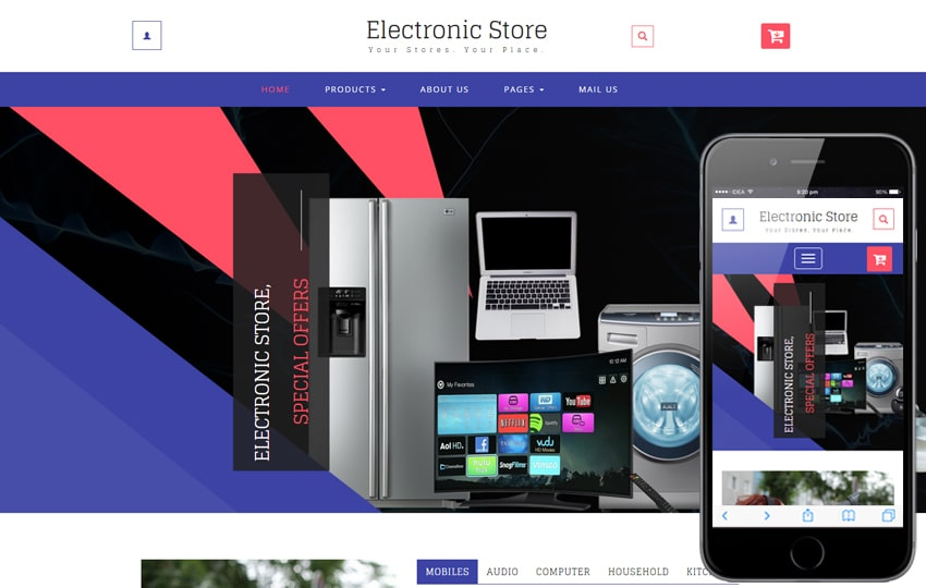 bootstrap ecommerce theme download