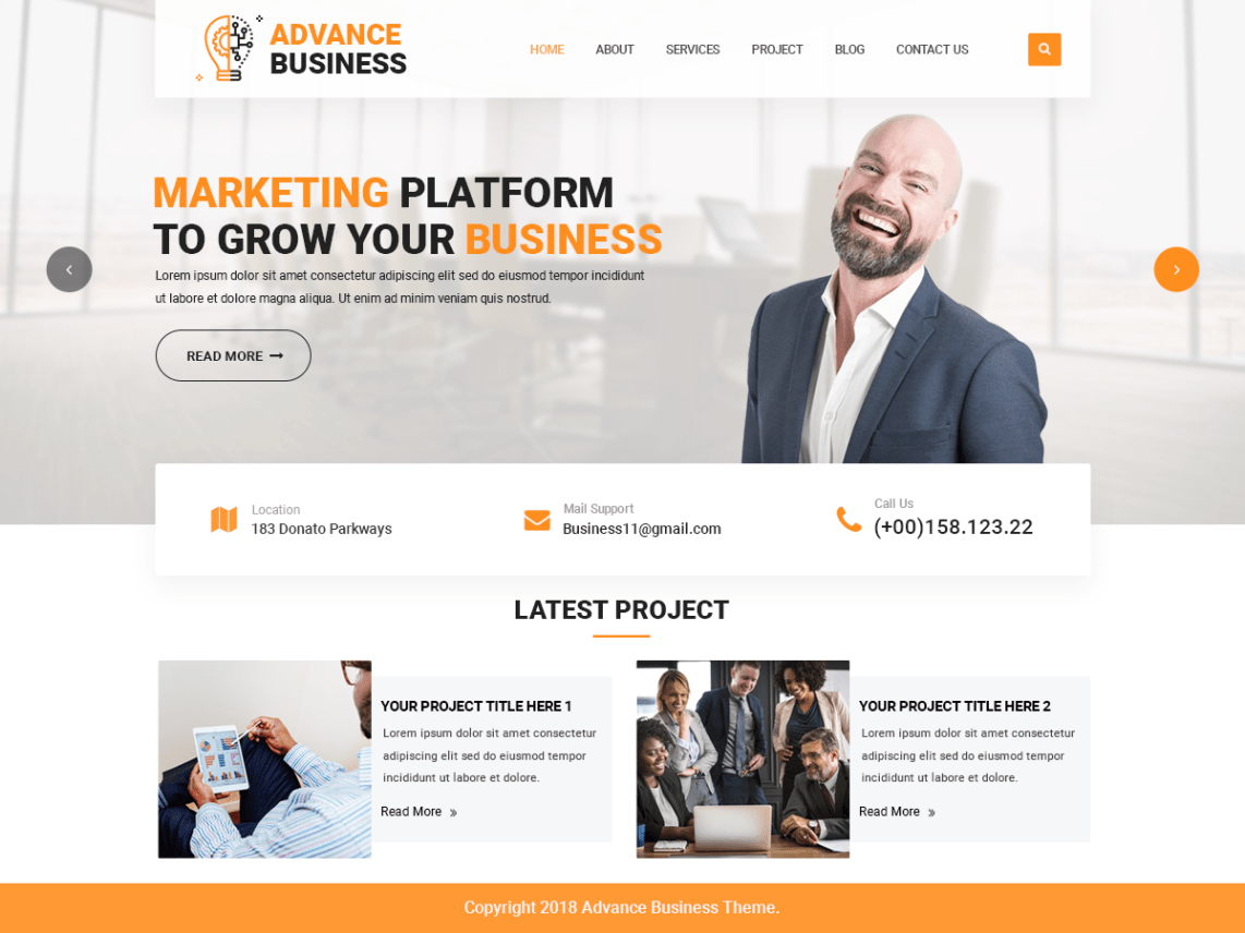 corporate companies wordpress-theme