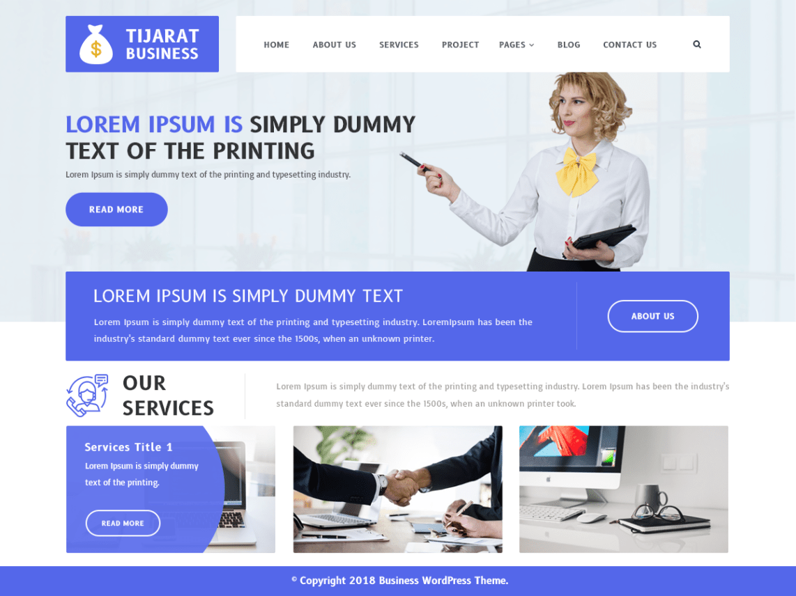 download wordpress business theme