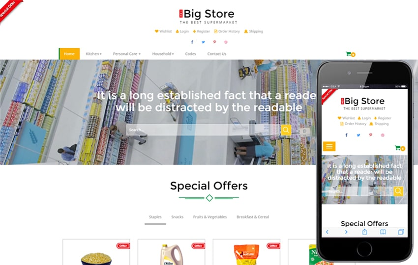 ecommerce template bootstrap free