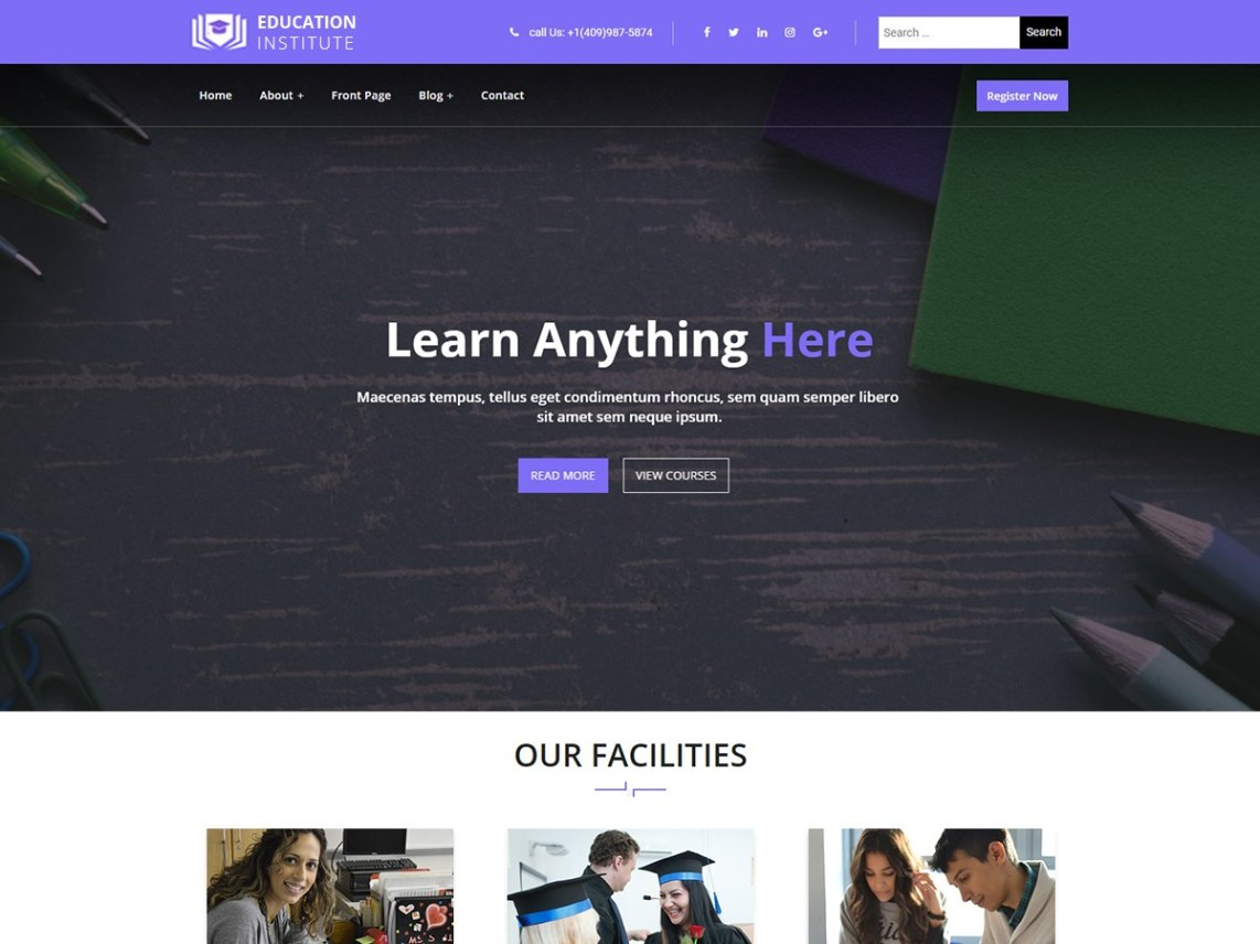 free education responsive wordpress theme