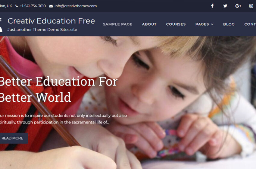 30+ Best Free Education WordPress Themes  in 2019
