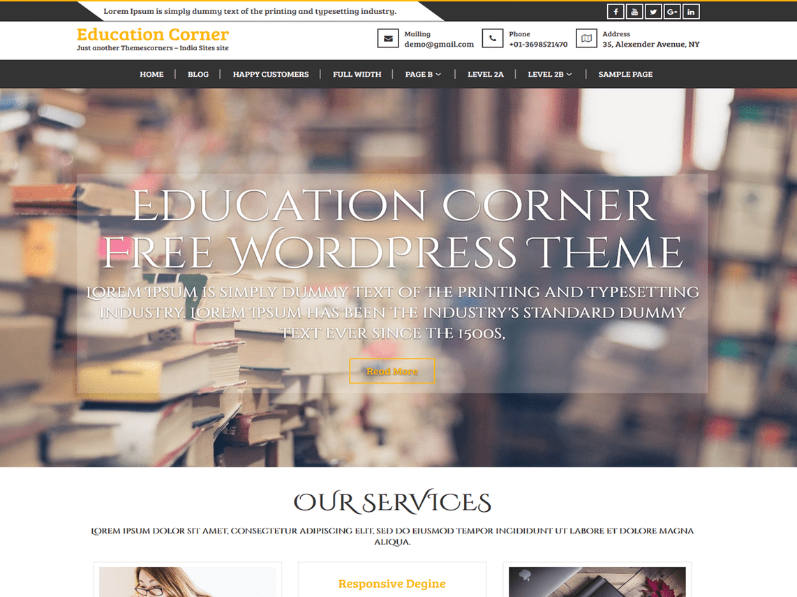 free institution wordpress theme
