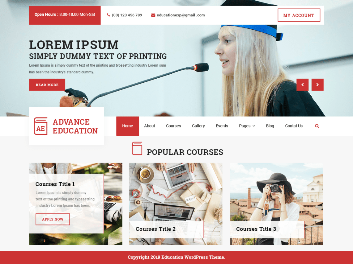 free wordpress education theme