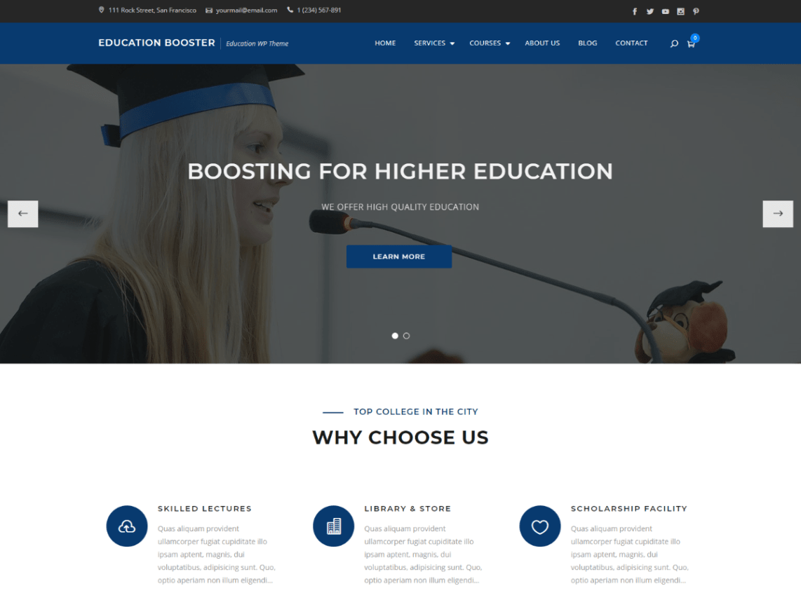 high school wordpress theme free download