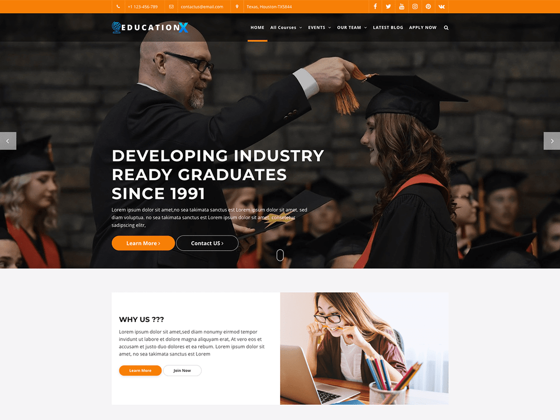 school free responsive wordpress theme