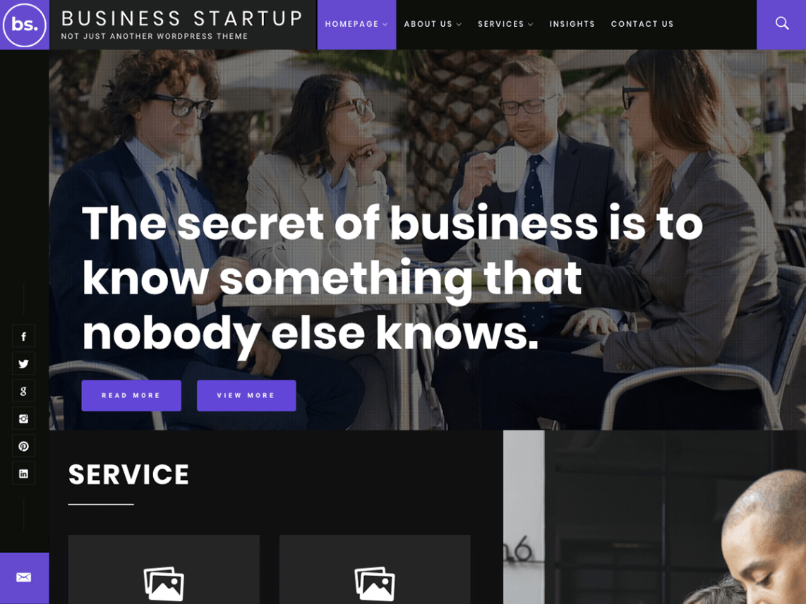 wordpress business template