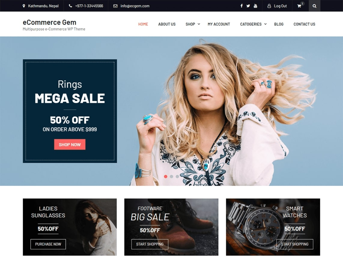 download-best free ecommerce theme
