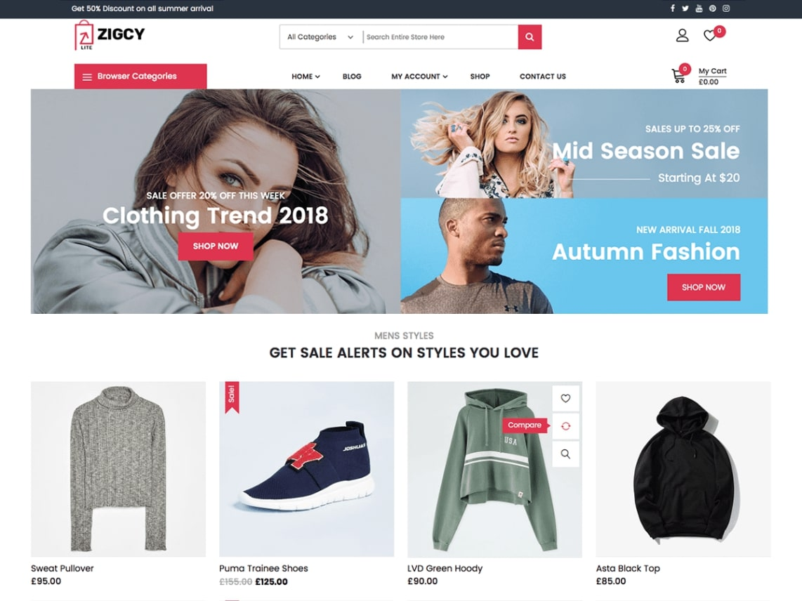 download free shoppingcart theme