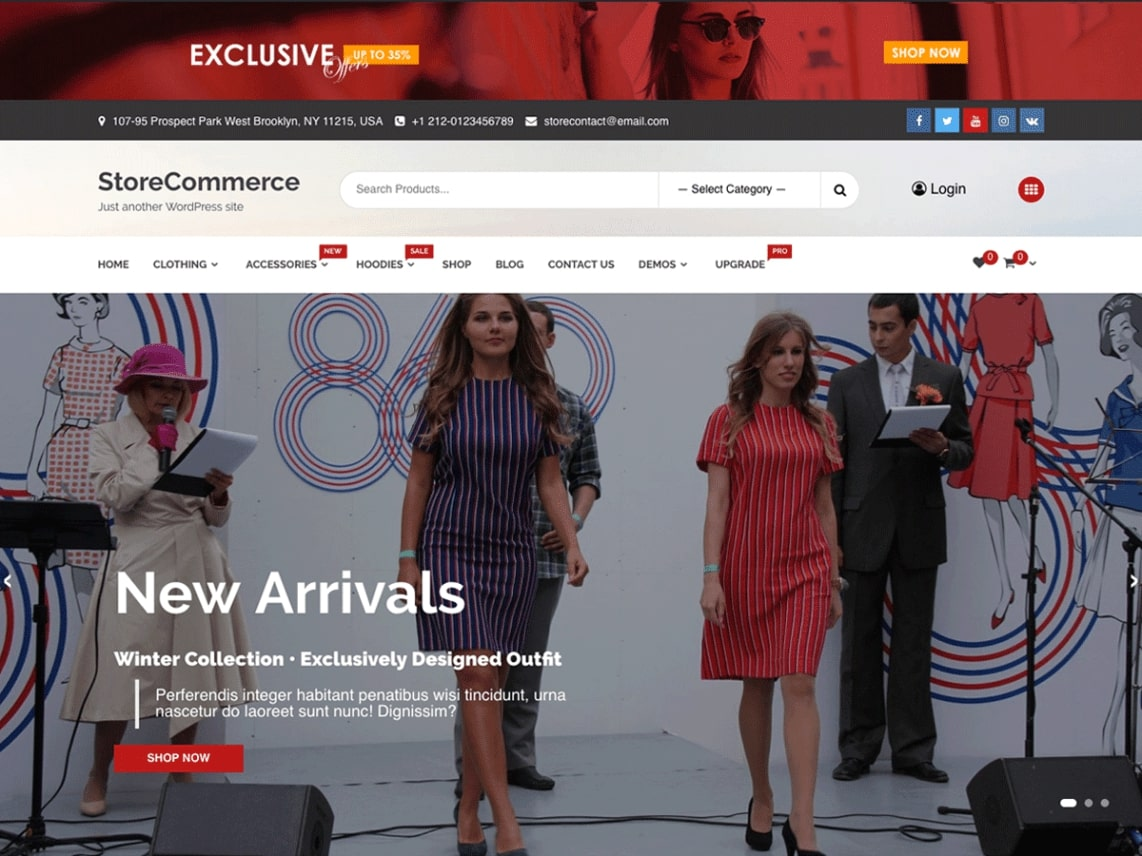ecommerce shop theme