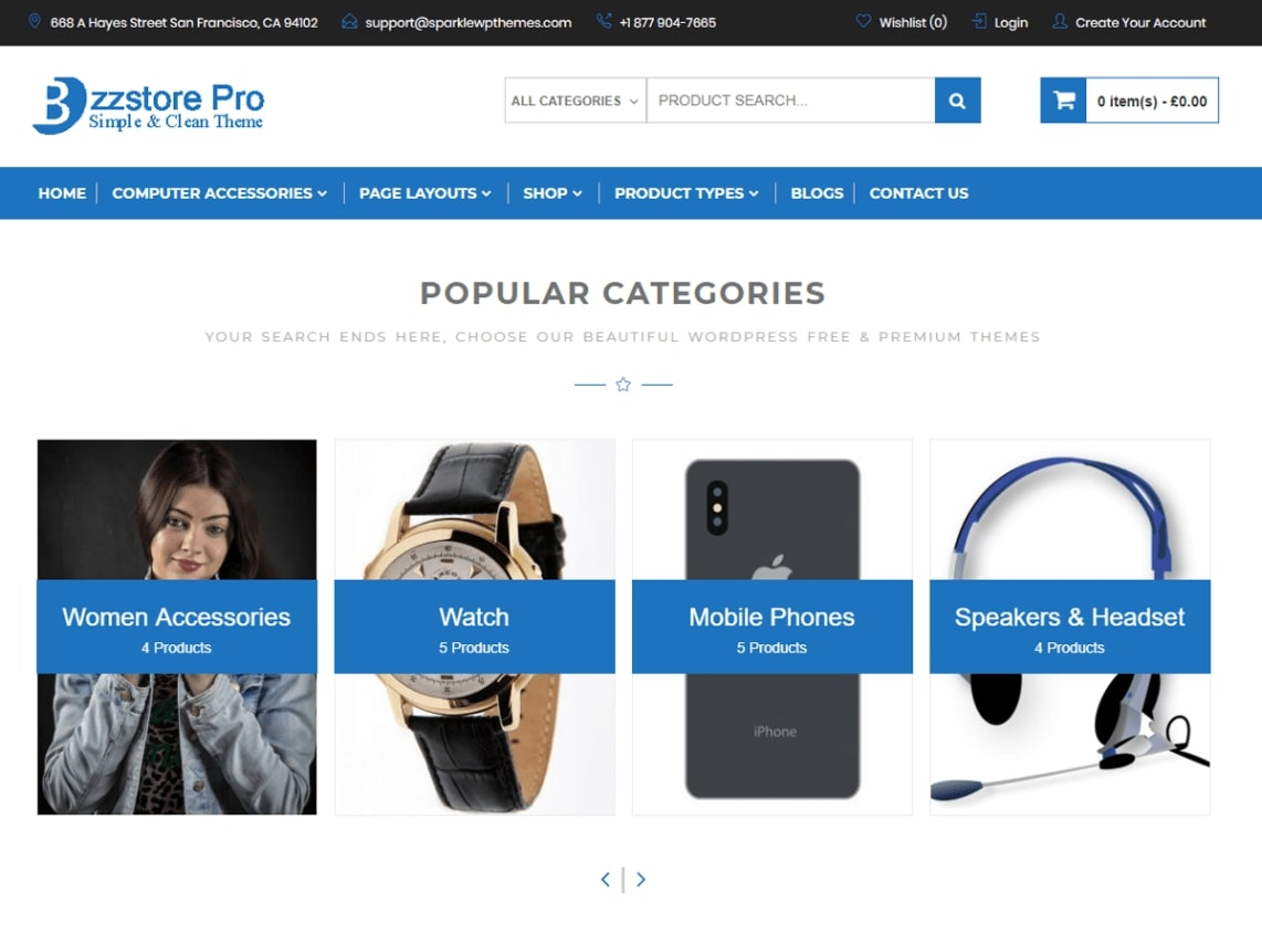 top free wordpress ecommerce theme