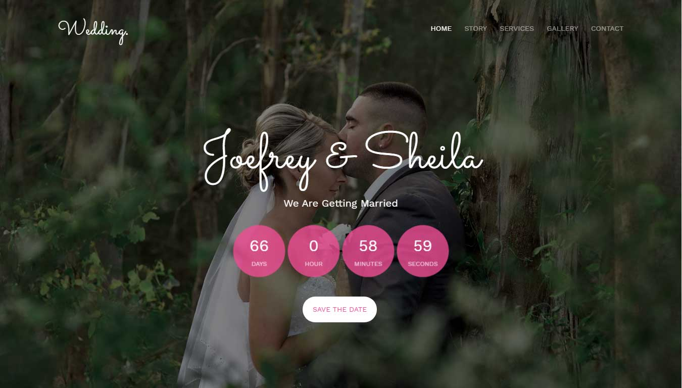 event website template free