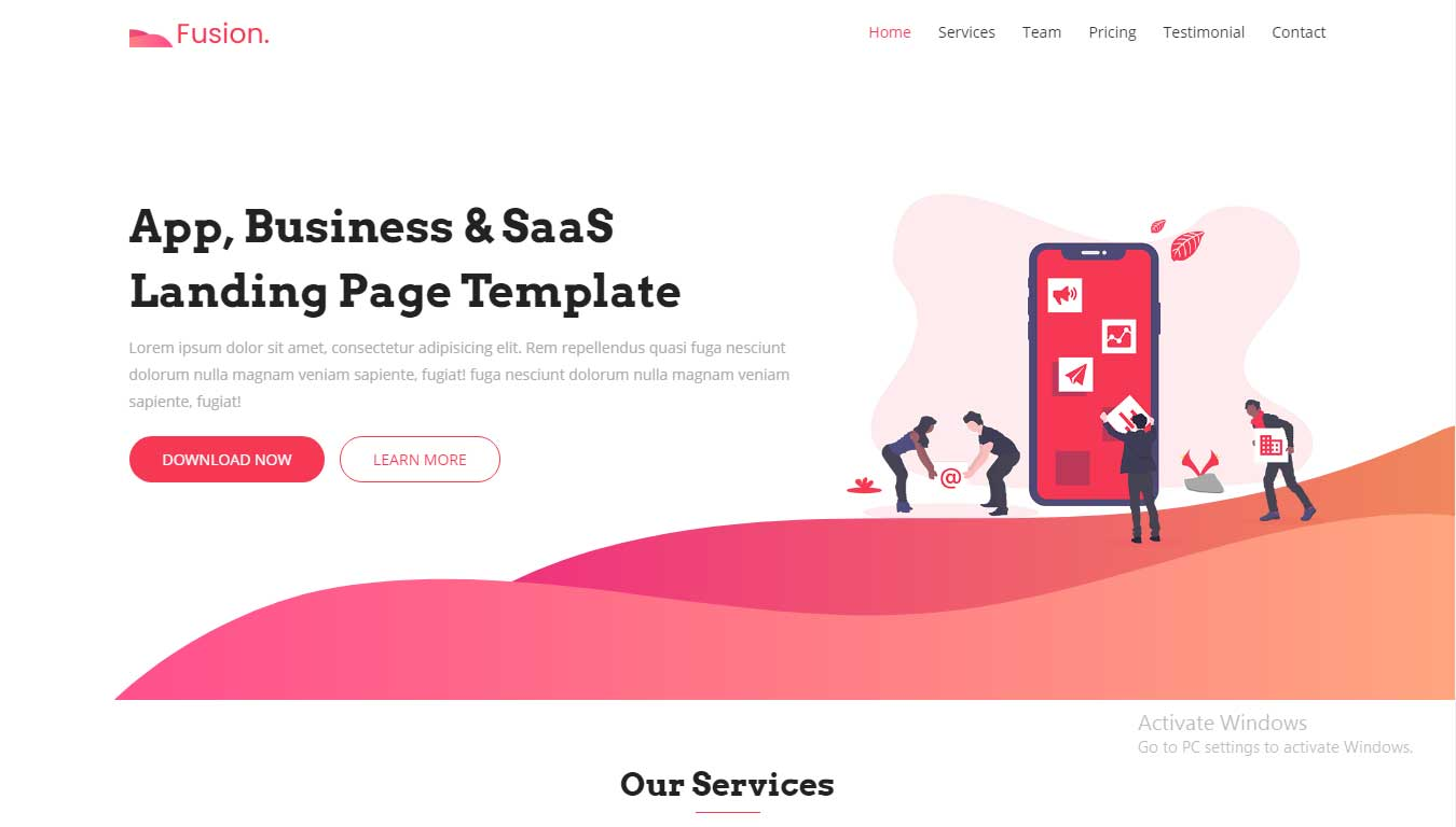 bootstrap4 free template