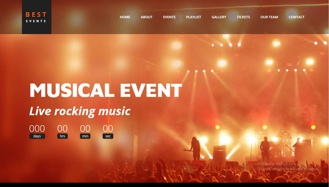 download event website template free