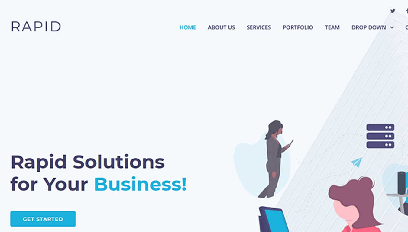 it software website template bootstrap