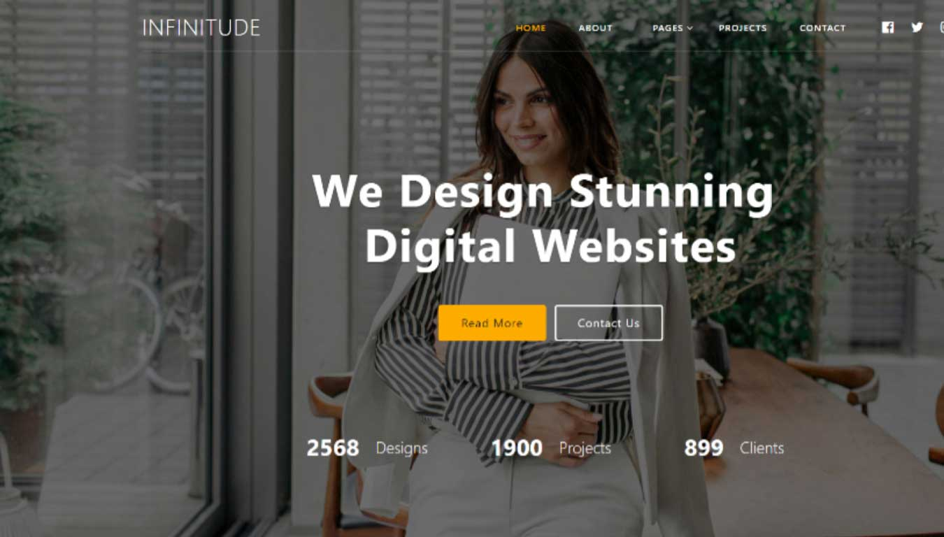 software website template  free