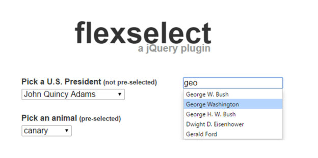 Jquery flexselect