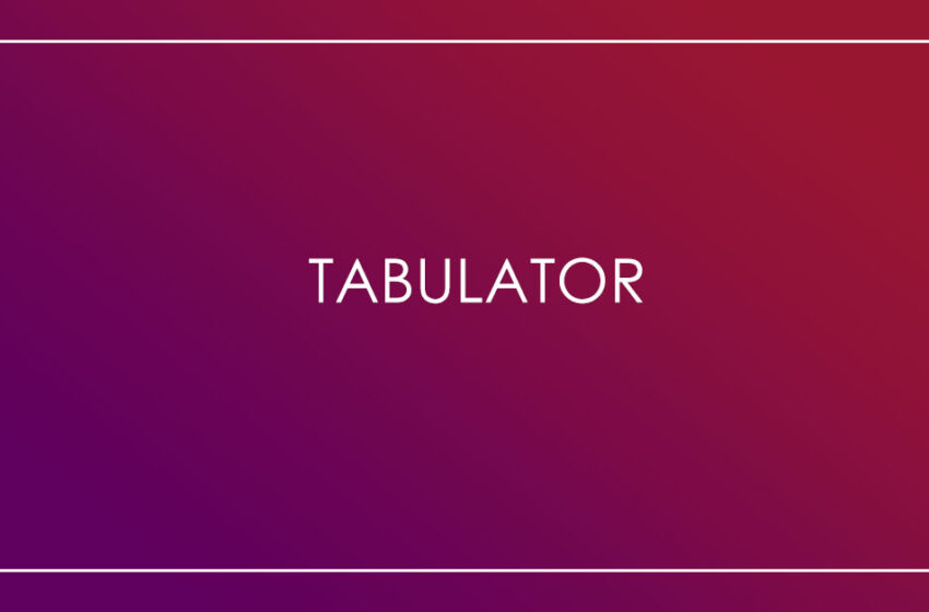 tabulator an interactive table JavaScript library