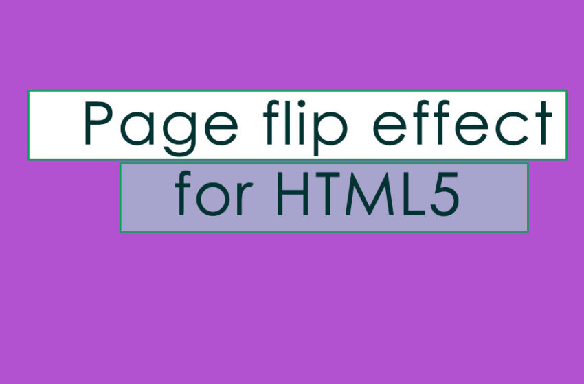 Page flip effect for HTML5