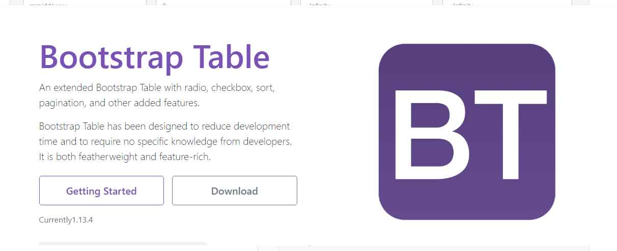 Bootstrap Table Plugin