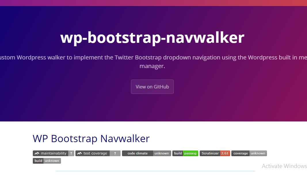 Implement the Bootstrap 4 navigation style in a custom wordpress theme