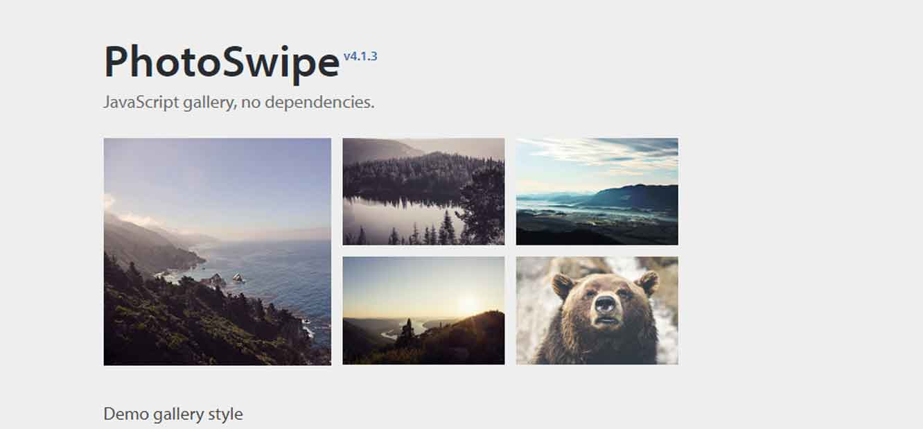 JavaScript image gallery for mobile and desktop