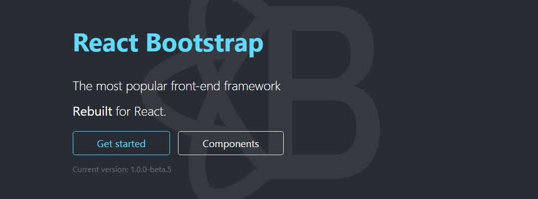 Bootstrap 4 components built with React